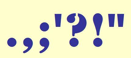 Σημεία στίξης - Punctuation marks
